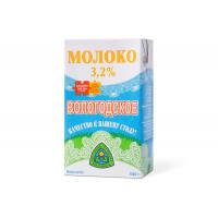 """Молоко """"Вологодское"""" стер. 3,2% 1л т/пак (СМ)"""