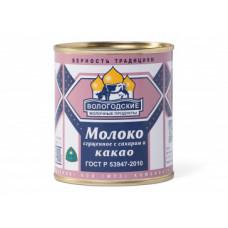 Молоко сгущенное Вологодское с Какао 400г ж/б ГОСТ (ВЛ)