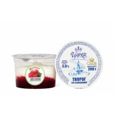 Творогсосливками(малина)5% 200г(ЦарКа)