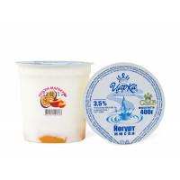 "Йогурт ""Персик-маракуйя"" 3,5% 400г п/стакан (ЦарКа)"