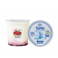 """Йогурт """"Вишня"""" 3,5% 400г п/стакан (ЦарКа)"""