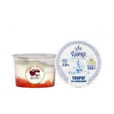 Творогсосливками(розовое яблоко)5% 200г(ЦарКа)