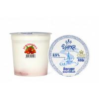 """Йогурт """"Земляника"""" 3,5% 400г п/стакан (ЦарКа)"""